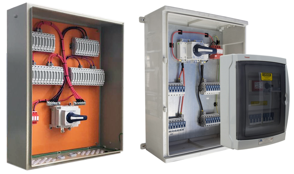 Figura 1 Stringboxes para sistemas fotovoltaicos. Fotos Proauto