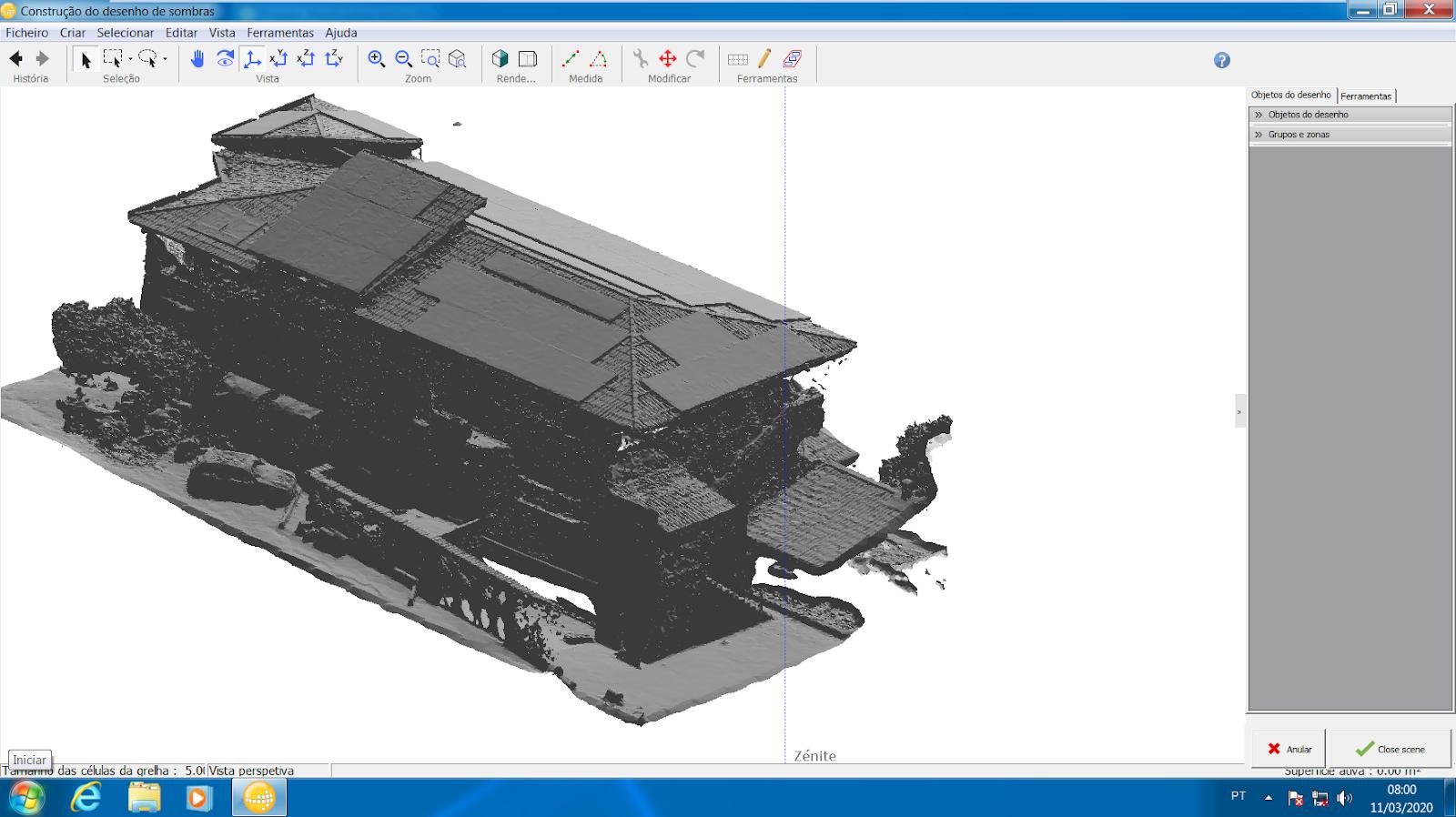 Figura 8: Modelo 3D importado no PVSyst