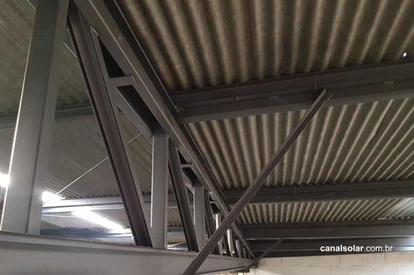 Reforço estrutural para a instalação de sistemas fotovoltaicos