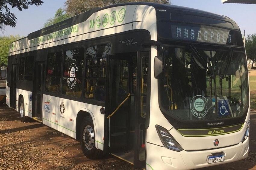 Unicamp inicia operação de ônibus 100% elétrico da BYD