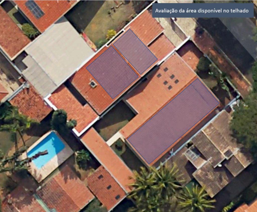 Avaliação do telhado para instalar energia solar