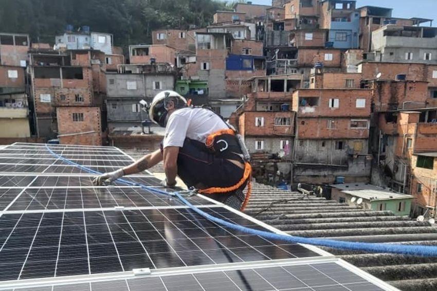 Energia solar já é realidade em favela de São Paulo