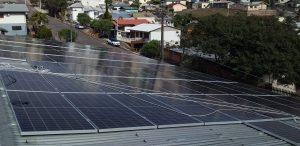 sistema solar fotovoltaico de 7 MWp em uma fábrica de gelo