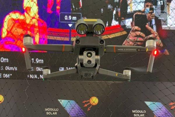 Drone com visão infravermelha foi uma das atrações na Intersolar